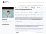 Quand et Comment Investir dans Ethereum (ETH) - Guide complet