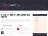 Glossaires : l'index des glossaires en ligne