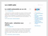 Le crédit auto