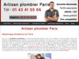 Plombier artisan : dépannage à Paris