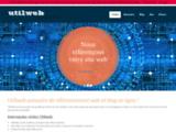 Utilweb référence et classe les sites web. Un blog complète le site.